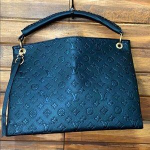 """Black embossed Inspired """"artsy"""" bag"""